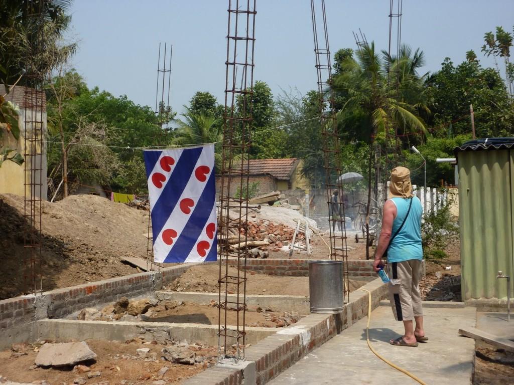 2 De bouwplaats bij aankomst